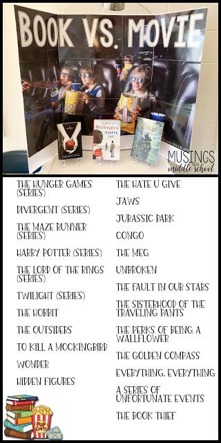 "March Book Display - ""Book vs. Movie"""