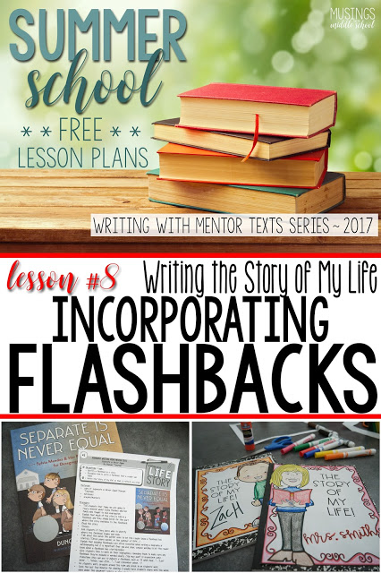 Lesson #8 in my Free Writing with Mentor Texts Summer Series. Incorporating flashbacks to enhance your story.